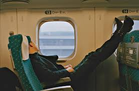 oliver sim on a japanese bullet train i don t know what this is