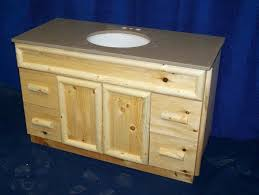 Pine Bathroom Furniture Handmade Knotty Pine Rustic Bathroom Vanity By Fbt Sawmill