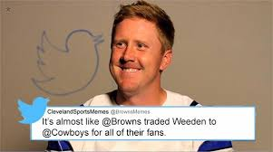 Brandon Weeden Memes - cleveland sports memes on twitter rememberweeden in honor of