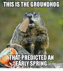 Groundhog Meme - thisis the groundhog that predictedan earlyspring groundhog meme