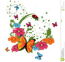 abstract floral background stock vector illustration of element