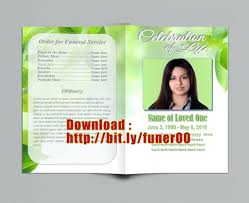 memorial program template template funeral program template publisher a fresh green with