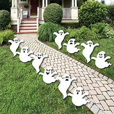 spooky ghost ghost shape lawn decorations outdoor halloween