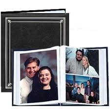 Bound Photo Albums Amazon Com Post Bound Black Pocket Album For 5x7 And 8x10 Prints