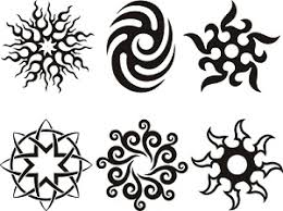 tribal sun design sun and moon tattoos sun design tattoos