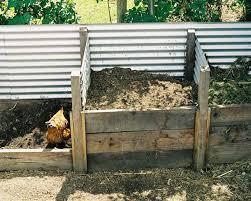 urban food garden corrugated iron compost bin photo