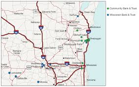 wisconsin map usa heartland financial usa inc to acquire community banc corp of