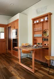 space saving kitchen table dining room midcentury with baseboards