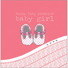 baby girl cards shoes new baby girl card