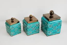 100 turquoise kitchen canisters set of 6 vintage art deco and