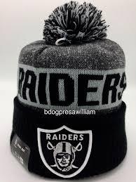 2016 oakland raiders new era nfl on field sideline sports knit pom