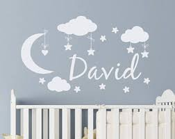 Personalized Nursery Wall Decals Baby Name Decals Etsy