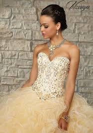 gold quince dresses ruffled skirt quinceanera dress 89024