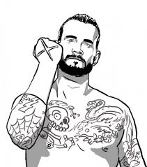 cm punk coloring pages free printable coloring pages and images