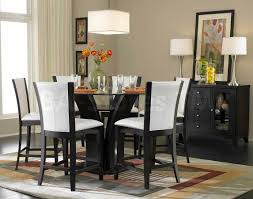6 pc dinette kitchen dining room set table w 4 wood chair daisy 7 pc round counter height set table and 6 chairs bar