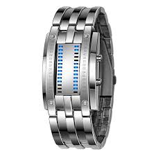 bracelet watches led images Buy duoya luxury men 39 s stainless steel date digital led bracelet jpg
