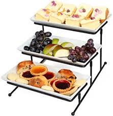 amazon com new u0026 improved 3 tier serving platters with mesh