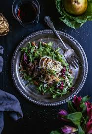sesame steak salad with spiralized pears climbing grier mountain