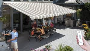 What Are Awnings Motorized And Motorized Xl Awnings From Sunsetter