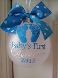 baby u0027s first christmas personalized custom christmas ornament