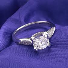 beautiful girl rings images Florid beautiful 1ct lab synthetic diamonds ring 750 gold jewelry jpg