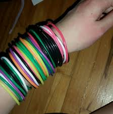 hand rubber bracelet images Hot topic jewelry thin rubber bracelets poshmark jpg