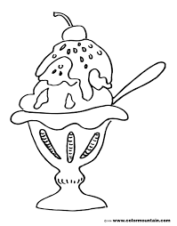 free sundae color page create a printout or activity