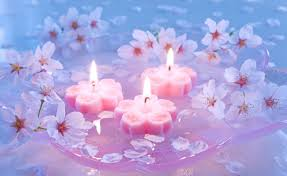 cherry flowers wallpapers candles and cherry flowers wallpapers