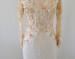 beaded wedding dress etsy