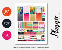 erin condren life planner free printable stickers free printable planner stickers planner addiction