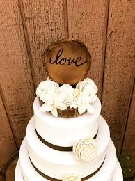 rustic wedding cake topper wooden cake topper love wedding