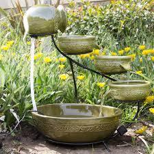 solar garden fountain home outdoor decoration
