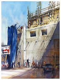 saatchi construction site downtown los angeles painting by