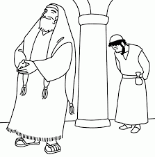 time october 2013 and pharisee and tax collector coloring page