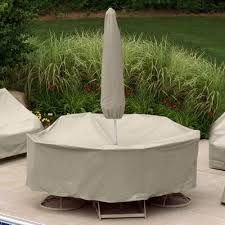 patio table cover with umbrella hole 72 to 76 table 6 chairs patio set cover w umbrella hole pc1156