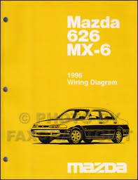 1996 mazda 626 u0026 mx 6 repair shop manual original