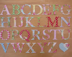 cute u0026 funky iron on fabric letters mixed case 3 3 5cm