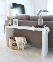 sofa table behind couch 20 easy diy console table and sofa table ideas hative