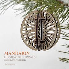 mandarin tree ornament free vector model ready for