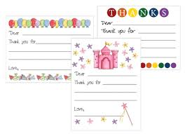 kids thank you cards redfly creations free kids thank you card templates