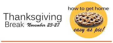 home goods thanksgiving thanksgiving break transportation options transportation u0026 parking