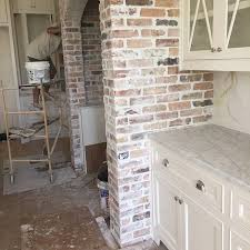 Kitchens White Cabinets Best 25 Exposed Brick Kitchen Ideas On Pinterest Brick Wall