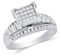 round setting rings images 925 sterling silver princess cut round baguette diamond jpg