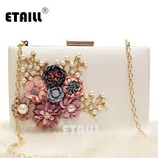 wedding bags etaill floral day clutch bag white wedding bags and purses for