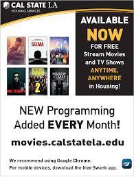 movie streaming u0026 schedule california state university los angeles
