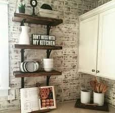Kitchen With Brick Backsplash Painted Brick Backsplash Faux Brick Or Veneer Kitchen Ideas