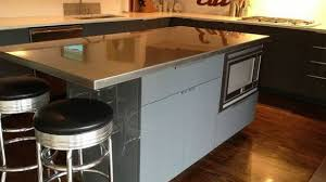 stainless steel top kitchen island august grove regiene kitchen island with stainless steel top for