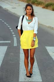 white shirt white necklace images Picture of with white shirt statement necklace black flats and jpg