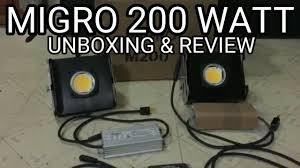 200 watt hps light 200 watt migro dimmable led grow light unboxing review youtube