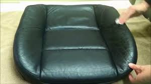 how to fix cut in leather sofa magic mender leather and vinyl repair kit demonstration youtube